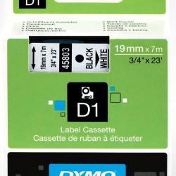 19MM X 7M DYMO D1 Tape Black on White