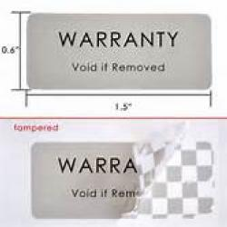 Warrenty void labels