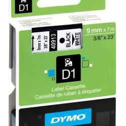9MM X 7M DYMO D1 TAPE BLACK ON WHITE